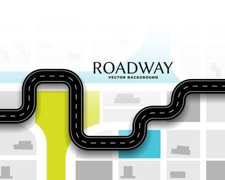 Reiseroute Straßenkarte Konzept Hintergrunddesign
