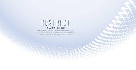 elegant white background with particles wave design Vector Illustration