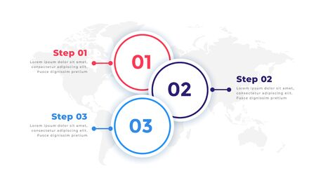three steps timeline business infographic design elements Çizim