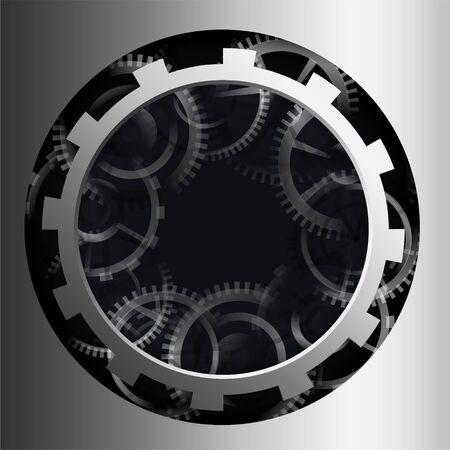 3d metallic gear background design
