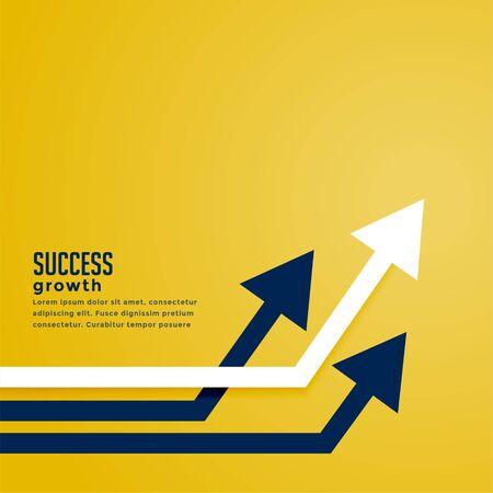leading arrow concept for business presentation design 向量圖像