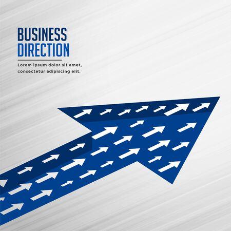 team growth arrow business concept background design