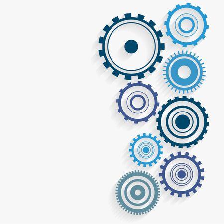 blue gears industrial background design