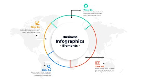 thin line infographic business presentation concept design Illustration