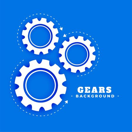 gears background with rotating arrow direction