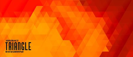 abstract triangle pattern background in warm colors Stock Illustratie