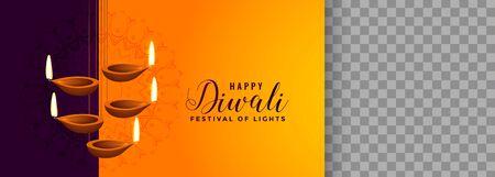 beautiful hanging diya lamp for diwali festival Vector Illustratie