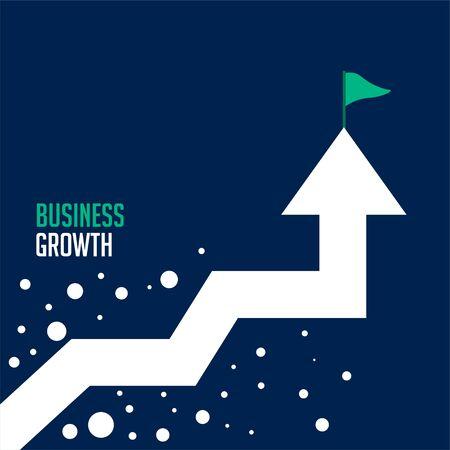 upward success arrow business growth concept background