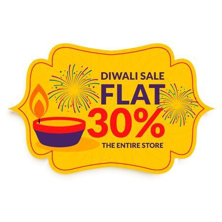 happy diwali festival sale in flat style design