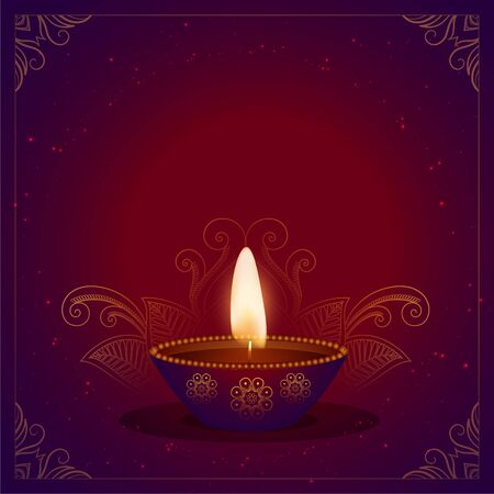 happy diwali beautiful festival card with text space