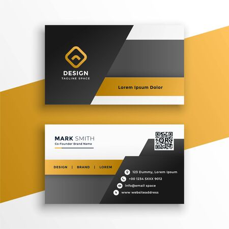 abstract geometric style business card design template
