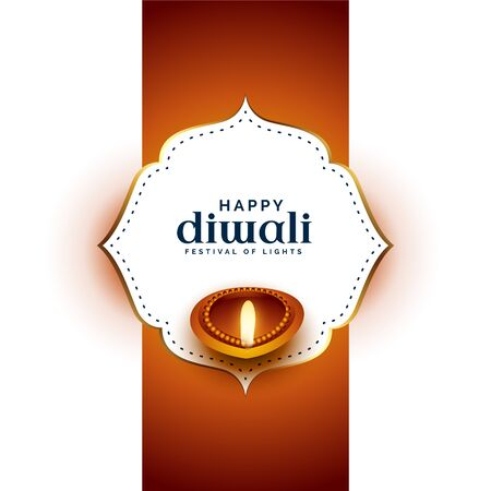 festival card design for happy diwali greeting Stockfoto - 130463268