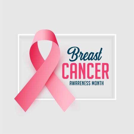 awareness poster design for cancer october month Ilustración de vector