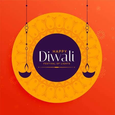 stylish happy diwali indian festival card design background Illustration