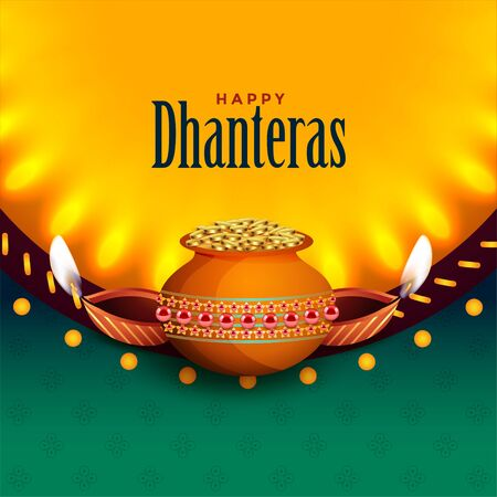 beautiful happy dhanteras background with light effect