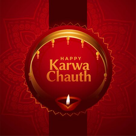 ethnic indian karwa chauth festival card design background