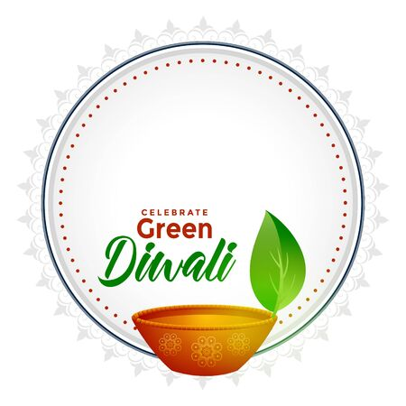 green diwali concept background with text space