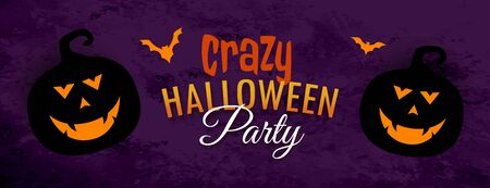 crazy halloween party spooky festival banner design
