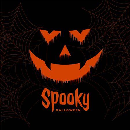 effrayant heureux halloween fantôme visage arrière plan design Vecteurs