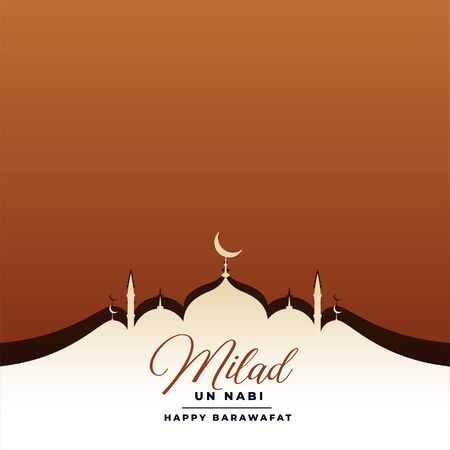 eid milad un nabi festival card with mosque design