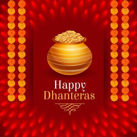 lovely hindu festival of happy dhanteras design