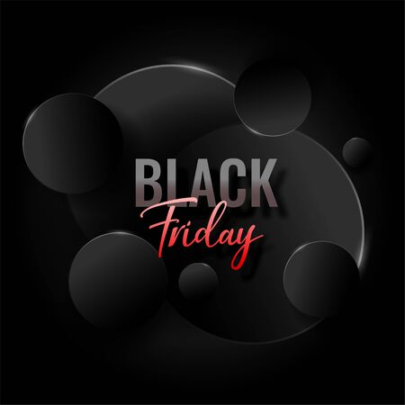 abstract elegant black friday background design