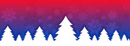 vibrant christmas tree banner design for festival season