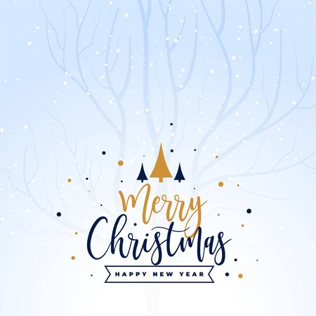beautiful merry christmas holiday festival card background
