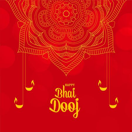 happy bhai dooj festival ceremony decorative background