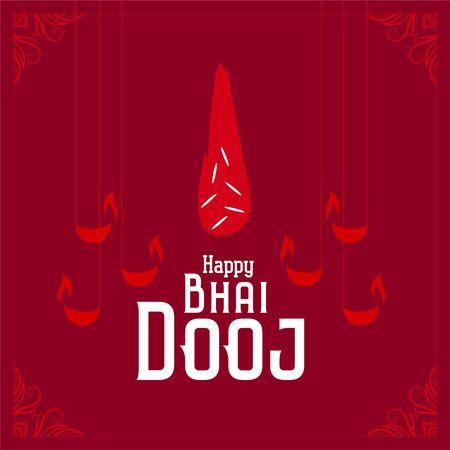 indian bhai dooj festival celebration red background