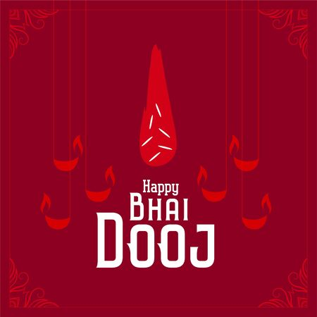 indian bhai dooj festival celebration red background