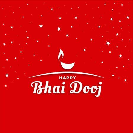 happy bhai dooj indian festival greeting card design