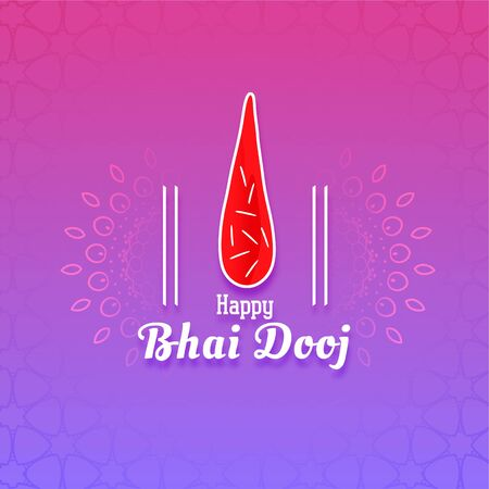 festival greeting for bhai dooj event design