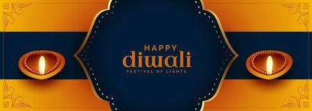 beautiful ethnic style happy diwali festival banner