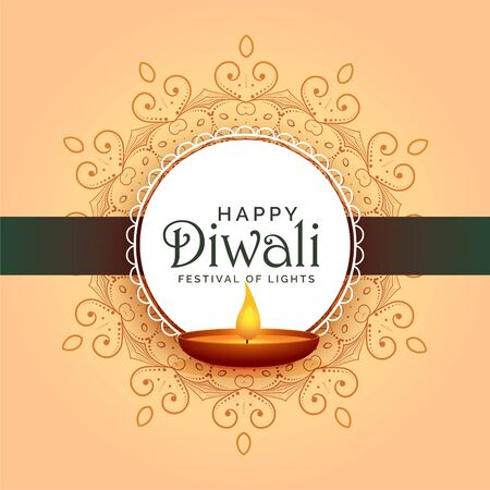 traditional indian happy diwali festival card design Stock Illustratie