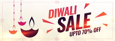 abstract style happy diwali sale banner design