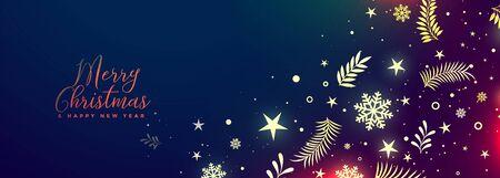 beautiful merry christmas vibrant decorative banner design