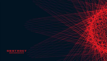 abstract black background with glowing red lines Ilustracja