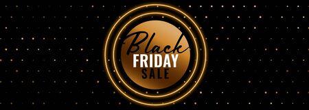 black friday golden sale banner design 向量圖像