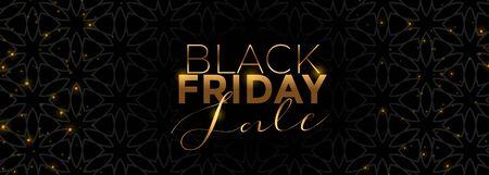 gold and black friday sale banner beautiful design