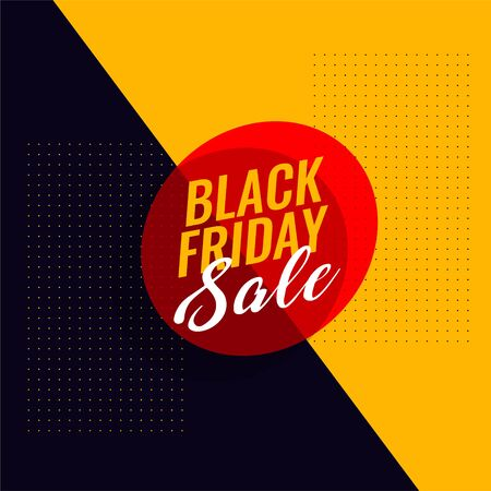 black friday sale modern banner design 向量圖像