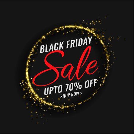 black friday sale banner with sparkles frame design