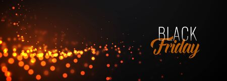 awesome black friday glowing particles banner design