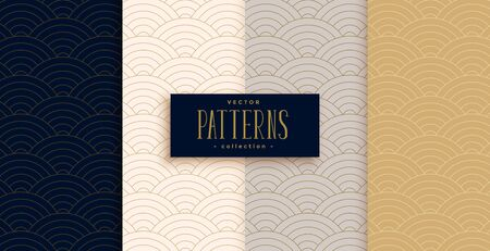 stylish chinese traditional curve lines pattern set 写真素材 - 133130772
