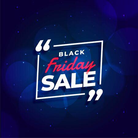 black friday sale blue background design template 向量圖像