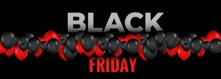 black and red balloons for black friday event