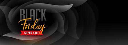 black friday super sale dark banner design