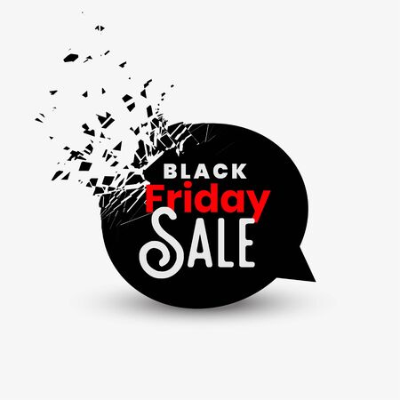 black friday sale background in chat bubble design
