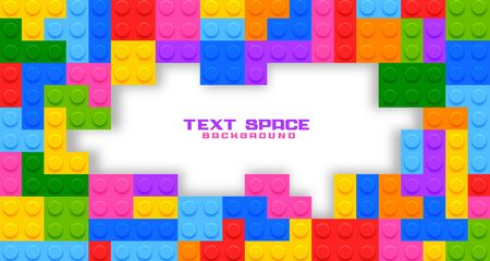 plastic game toys background with text space