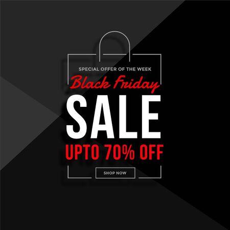 black friday shopping bag sale background Illusztráció